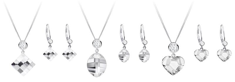 Kolekce stříbrných šperků Lil, Hana, Amy s českým křišťálem a kubickou zirkonií Preciosa