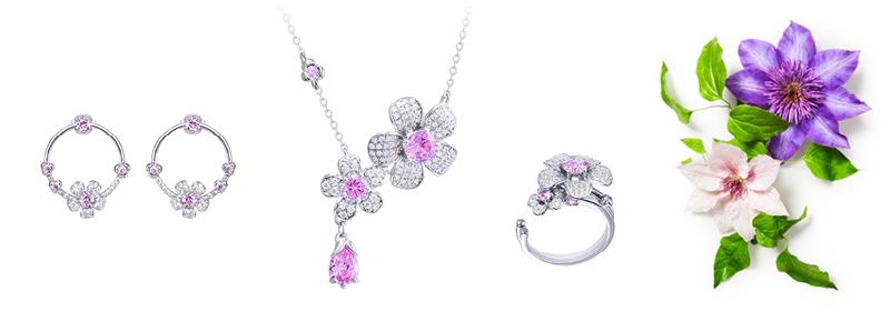 Kolekce stříbrných šperků Clematis s kubickou zirkonií Preciosa