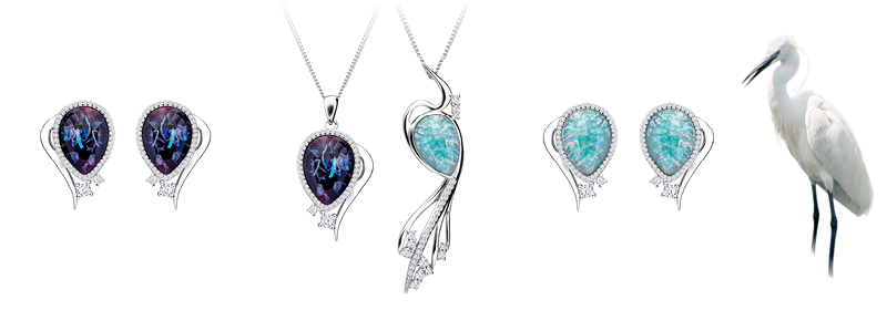 Kolekce stříbrných šperků Ines s českým křišťálem a kubickou zirkonií Preciosa