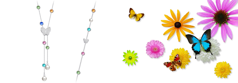 Kolekce šperků z chirurgické oceli Lea s českým křišťálem Preciosa a perlami