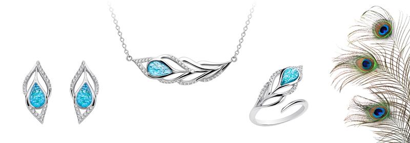 Kolekce stříbrných šperků Penna s českým křišťálem a kubickou zirkonií Preciosa